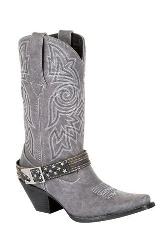 Durango Women's Crush Graphite Flag Harness Western Boots - Snip Toe